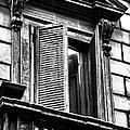 Open Shutter In Rome by John Rizzuto