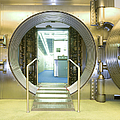 Open Vault At A Bank by Adam Crowley