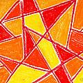 Orange Abstract by Hakon Soreide