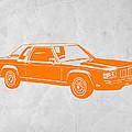 Orange Car by Naxart Studio