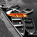 Orange Dinghy by Dale   Ford