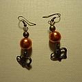 Orange Gold Elephant Earrings by Jenna Green