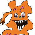 Orange Monster 1 by Eric Elizondo