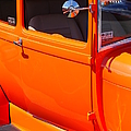 Orange Passenger Door by Randy Harris
