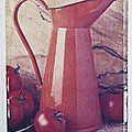 Orange Pitcher And Tomatoes by Garry Gay