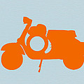 Orange Scooter by Naxart Studio