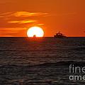 Orange Sunset II by Christine Stonebridge