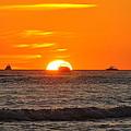 Orange Sunset V by Christine Stonebridge