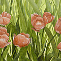 Orange Tulips by Mary Ann King