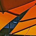 Orange Umbrella Abstract by Eric Tressler