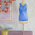 Orchid And Mannequin by Patricia Cleasby