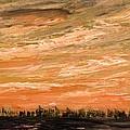 Organge Northern Sky by Desmond Raymond