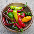 Organic Colorful Peppers by Anna Ruzsan