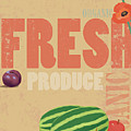 Organic Fresh Produce Poster Illustration by Don Bishop
