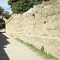 Original Ancient Wall Leading To Olympic Stadium by John Shiron