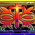 Ornate Rainbow Cross by Clayton Bruster