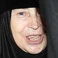 Orthodox Woman At Nativity Church by Munir Alawi