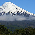 Osorno Volcano Ringed By Clouds by Laurel Talabere
