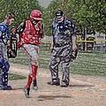 Ouch Baseball Foul Ball Digital Art by Thomas Woolworth