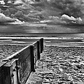 Out To Sea Monochrome by Steve Purnell