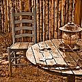 Santa Fe, New Mexico - Outdoor Dining by Mark Forte