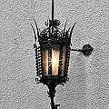 Outdoor Wall Lamp Aglow by Linda Phelps