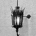 Outdoor Wall Lamp Bw by Linda Phelps