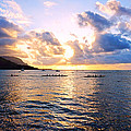 Outrigger Canoes Hanalei Bay Kauai by Kevin Smith
