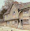 Outside A Timbered Cottage by Helen Allingham
