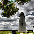 Overcast Clouds At Turkey Point Lighthouse by Alice Gipson