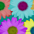 Oversize Daisies Two by Ruth Palmer