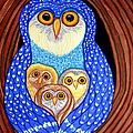 Owl And Owlettes by Nick Gustafson