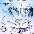 Owl In Flight by John Jr Gholson