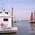 Oyster Boat On The River  by Nancy Patterson
