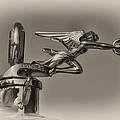 Packard Angel Hood Ornament In Sepia by Bill Cannon