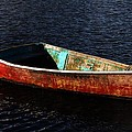 Painted Row Boat by Mark Valentine