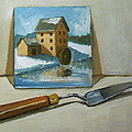 Painting Of A Painting With Palette Knife