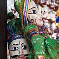Pair Of Large Puppets At The Surajkund Mela by Ashish Agarwal