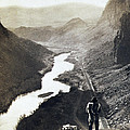 Palisades Railroad View - California - C 1865 by International  Images