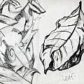 Palm And Leaf by Jana Barros