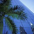 Palm Tree And Reflection Of Petronas by Axiom Photographic