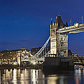 Panorama Of Tower Bridge And Tower Of London by Travel Images Worldwide
