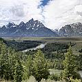 Panorama Snake River Grand Teton by Paul Cannon