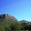 Panoramic Mountain View II Towards Montserrat From Barcelona Spain by John Shiron