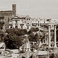 Panoramic View Via Sacra Rome by Tom Wurl