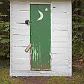 Paper Moon Outhouse by John Stephens