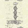 Parachute Attachment For Flying Machines 1919 Patent Art by Prior Art Design