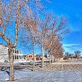 Parade Grounds - Fort Laramie  by HW Kateley