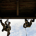 Pararescuemen Take Part In A Rappelling by Stocktrek Images