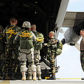 Paratroopers Gather Around The Back by Stocktrek Images
